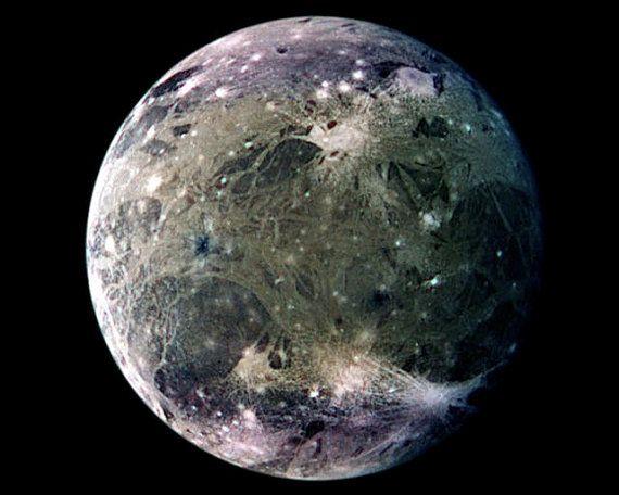 Ganymede Jupiter Moon Frozen Ice World Nasa Scientific