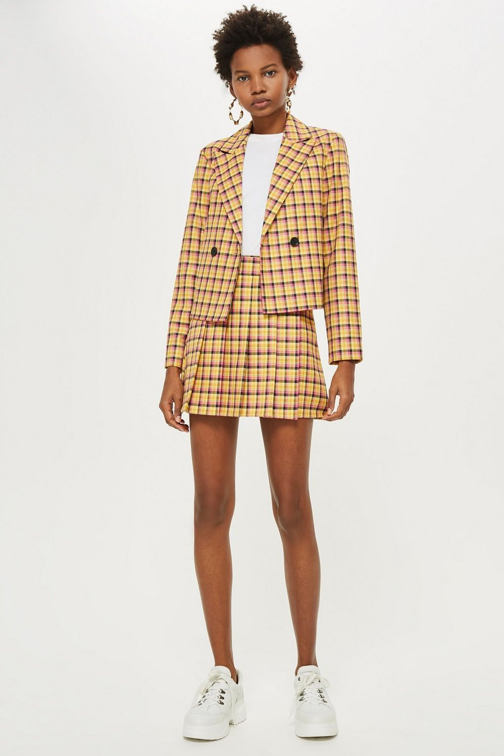 cb4001d4a8 Yellow Check Suit - Autumn / Winter 2018 - Clothing - Topshop USA