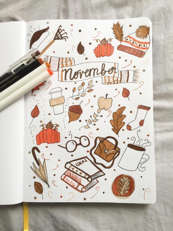November Bullet Journal and Goal Setting