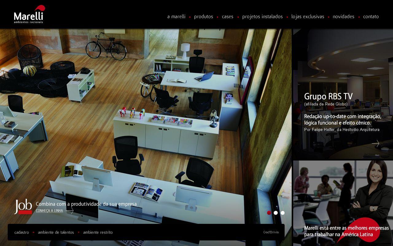 Projeto Gráfico para site institucional Marelli