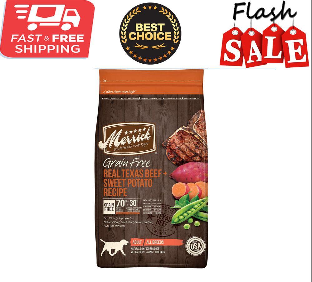 Merrick Grain Free Real Texas Beef Sweet Potato Recipe Dry Dog