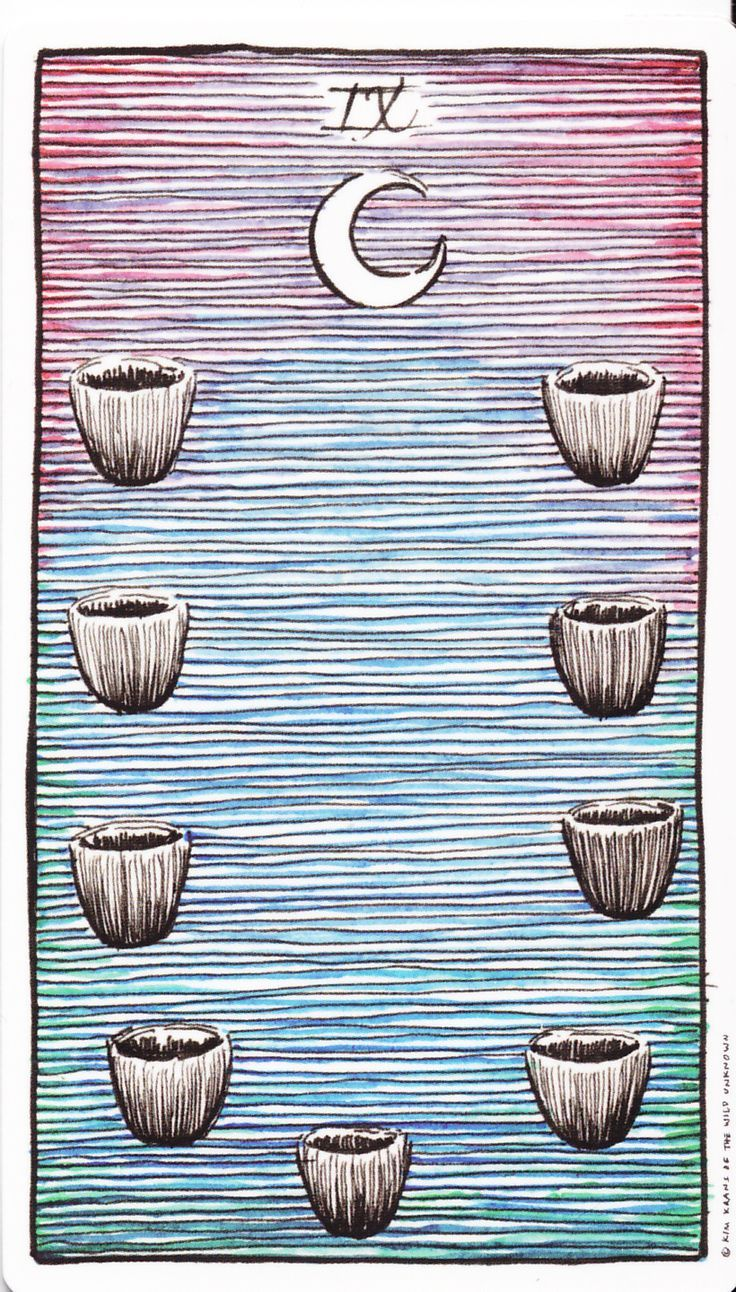 Tarot of the Wild Unknown - Nine of Cups (the wish card