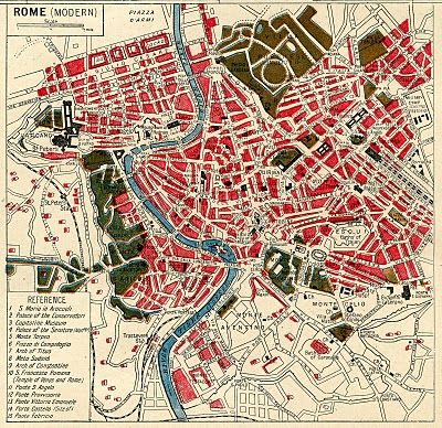 Instant Art Printable Download – Map of Rome Saw this and thought you'd like it for your abode.