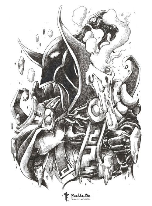 Rubick The Grand Magus From Dota2 His Spell Steal In Dream Dota Tattoo Tatoo Desenhos