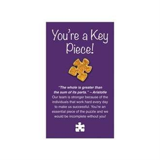 Puzzle Piece Deluxe Lapel Pin On You Re A Key Piece
