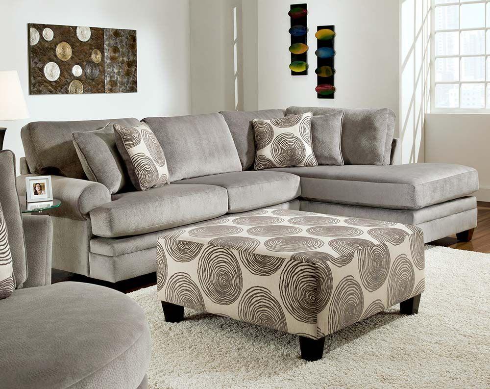 Groovy Smoke 2 PC. Sectional Sofa | Decorating | Pinterest | Sofás ...