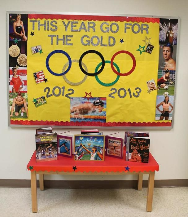 Classroom Decorating Ideas Olympic Theme ~ Go for the gold olympic themed back to school board
