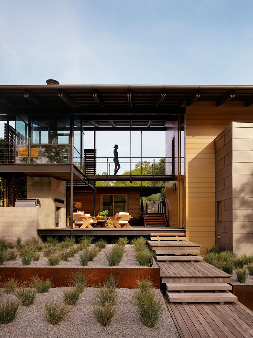 lake flato connects hog pen creek retreat in austin with ...