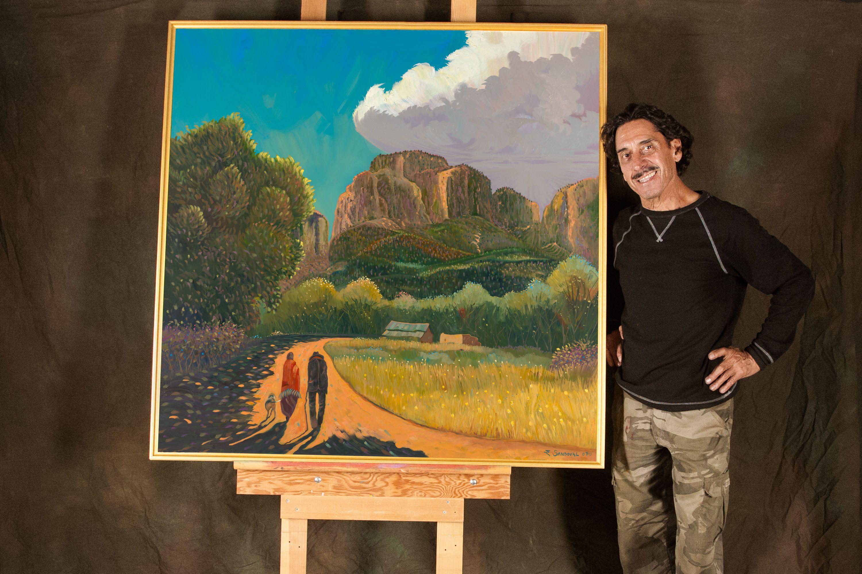 Artist Ed Sandoval Studio De Colores Taos Nm
