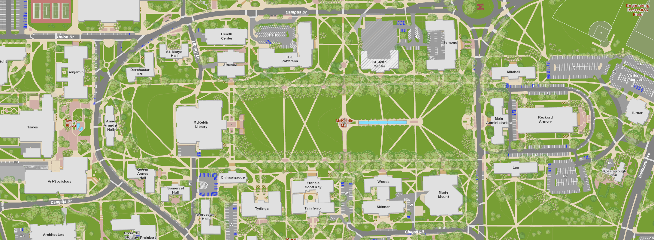 u maryland campus map Custom Map Might Not Be Google Map Campus Map Custom Map