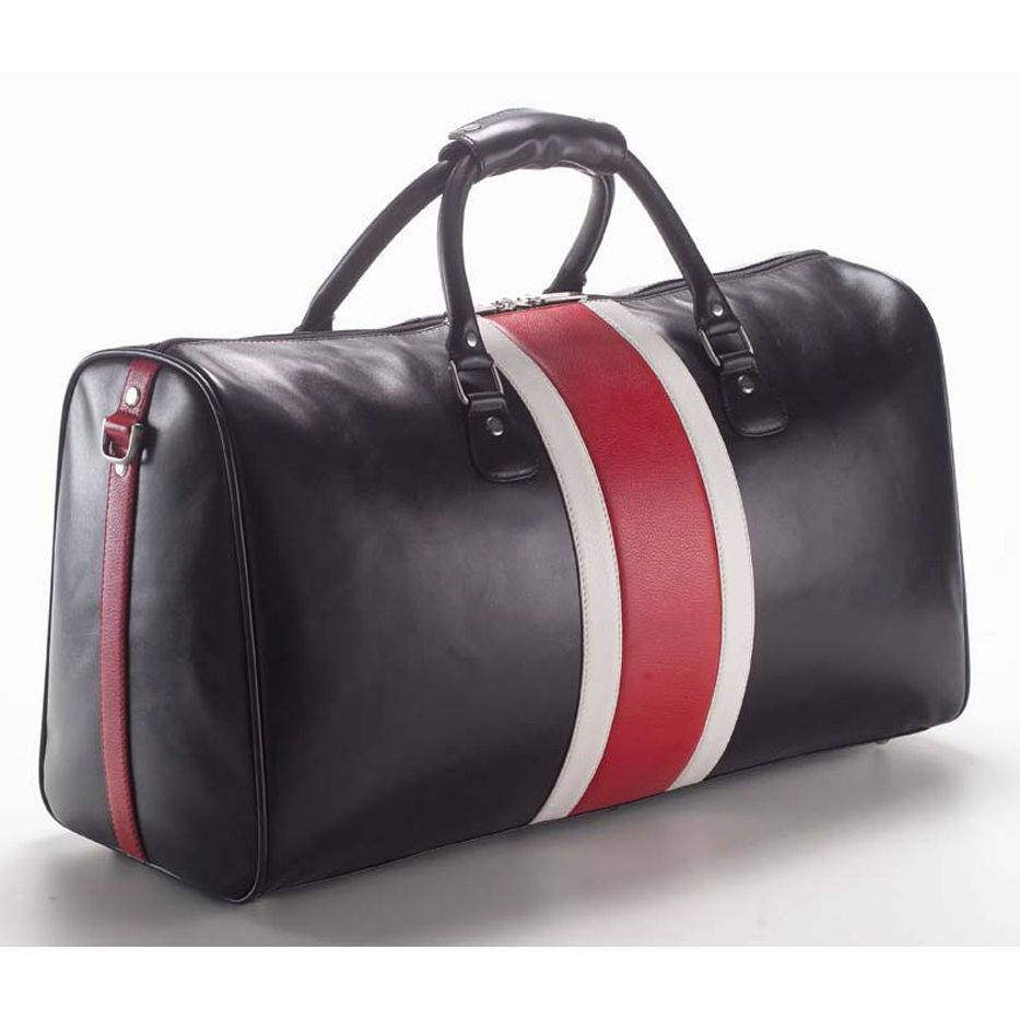 Could this be the ultimate overnite bag  Possibly. Pricey  A little. But  check out the stripes and the zipper. I d plan a trip just to throw this  bad boy in ... b7ee75da685a