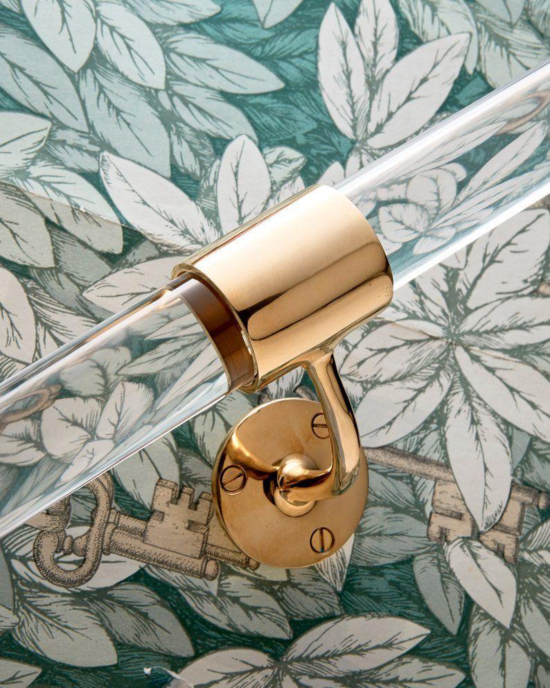 Custom Lucite Handrail ( Polished Brass, Satin Brass