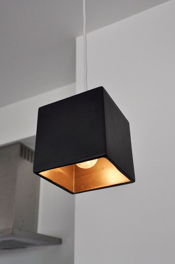 Cube Pendant Light Fixture In Charcoal Hanging Light Fixtures