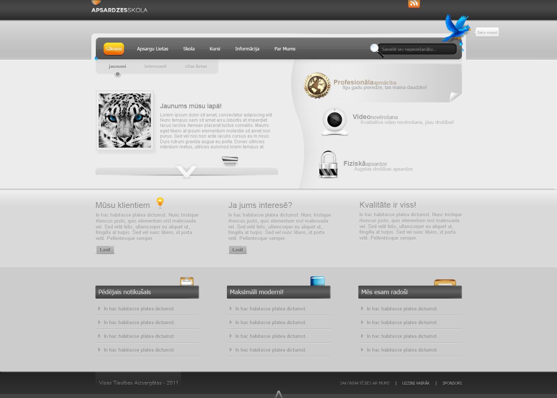 Security School WebDesign by kristaps-design.deviantart.com on @deviantART