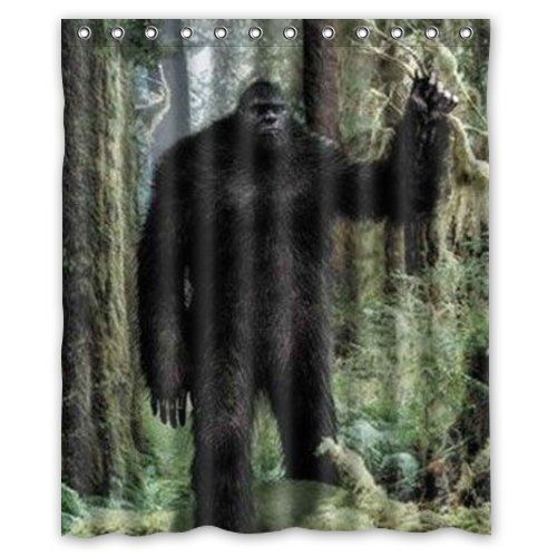 Bigfoot Background Waterproof Shower Curtainbath Curtainsize 60 X 72 By Shower Curtain You Can Find Out More Details At Th Shower Curtain Waterproof Bigfoot