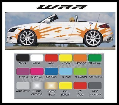 Car Side Stickers Wheel Arch Splash's ANY COLOUR in Vehicle Parts ...