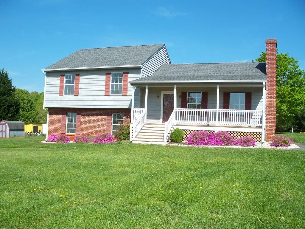 split level house with front porch