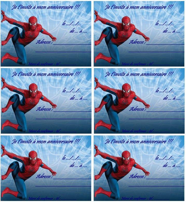 Coloriage Carte Anniversaire Spiderman 2 Invitation