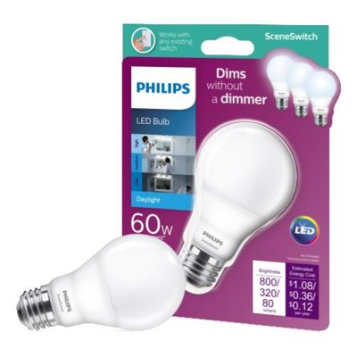 Philips 10 Watt 60 Watt Equivalent A19 Led Dimmable Light Bulb E26 Base Light Bulb Candle Led Light Bulb Filament Bulb Lighting