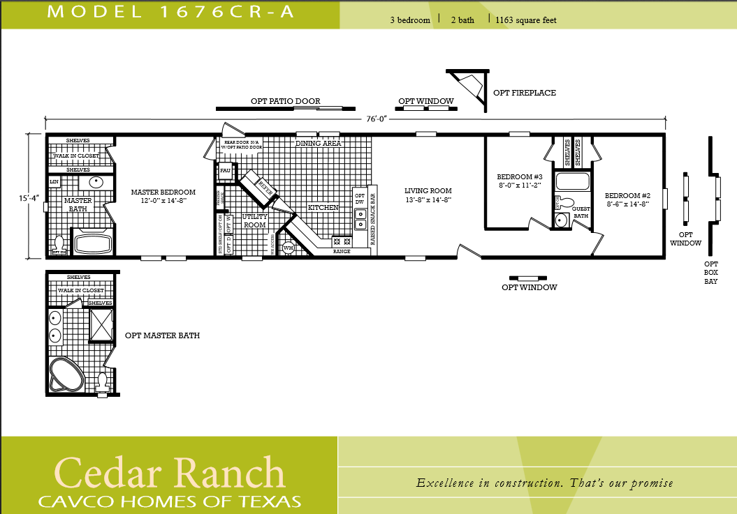 Scotbilt mobile home floor plans singelwide single wide for 3 bedroom 2 bath double wide floor plans