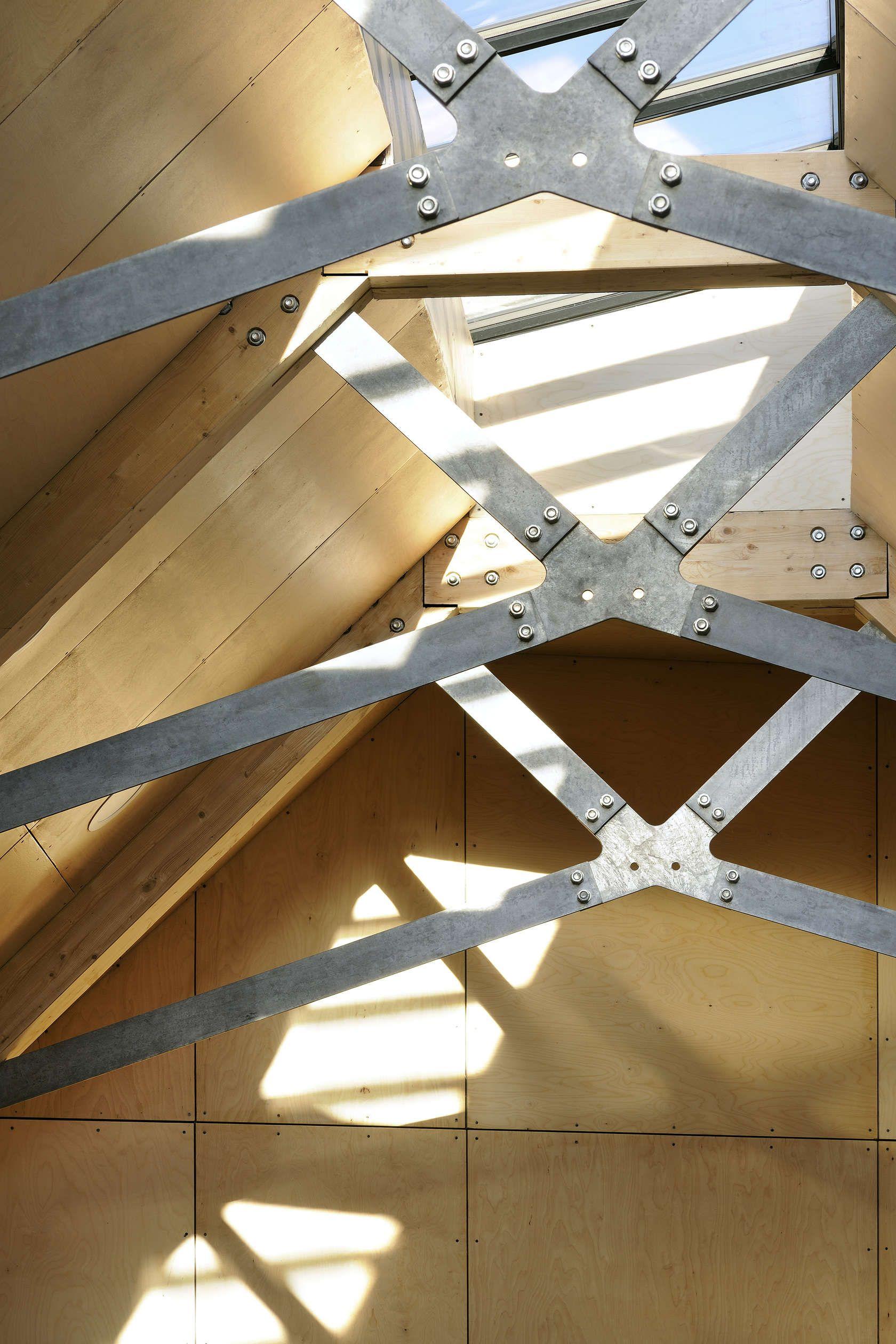 Portsoy Boatbuilding Centre Steel Trusses Roof Construction Building Design