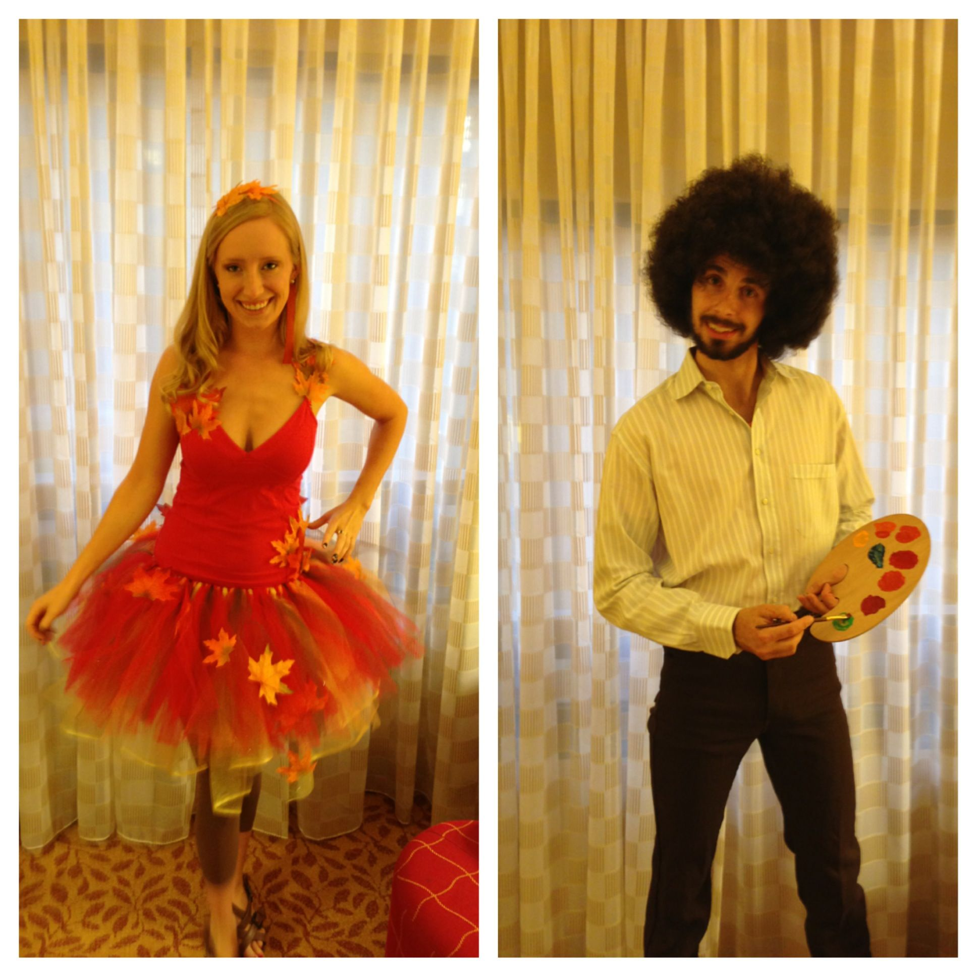 Bob Ross & Happy Little Tree Halloween Costume DIY Costume Couples ...