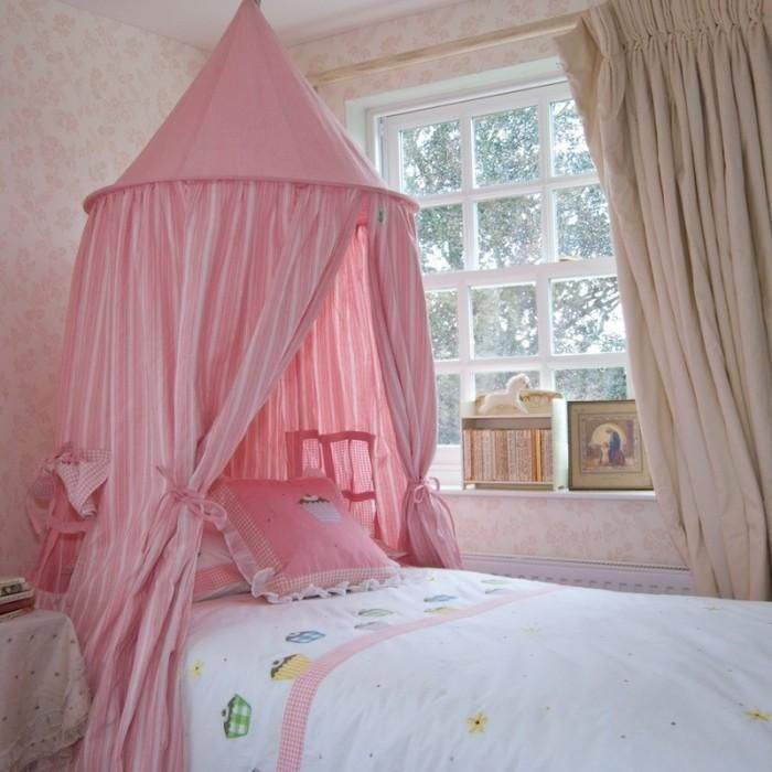 childrens Girls Canopy Bed 700x700 photo