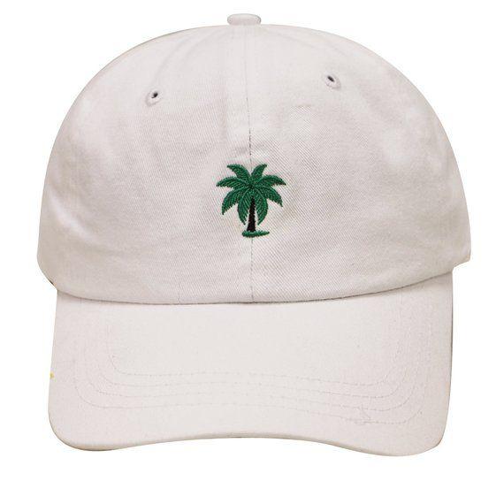 287395c40ae Capsule Design Palm Tree Cotton Baseball Cap White