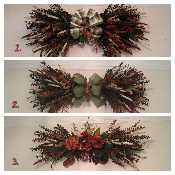 Eucalyptus Swag Wreath Fall Autumn Dry Floral Arrangement Custom