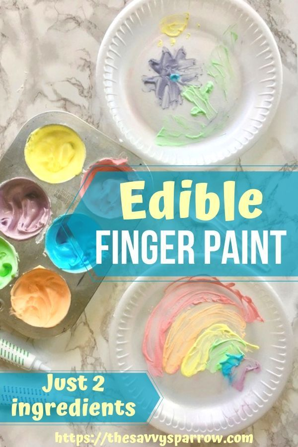 Edible Finger Paint: A Rainy Day Activity for Kids   The Savvy Sparrow