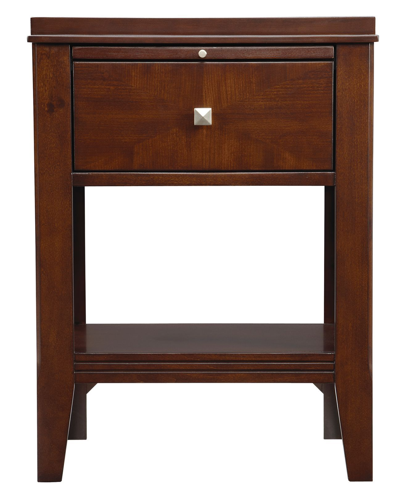 has drawer, tray, and shelf. On sale for 199; cherry