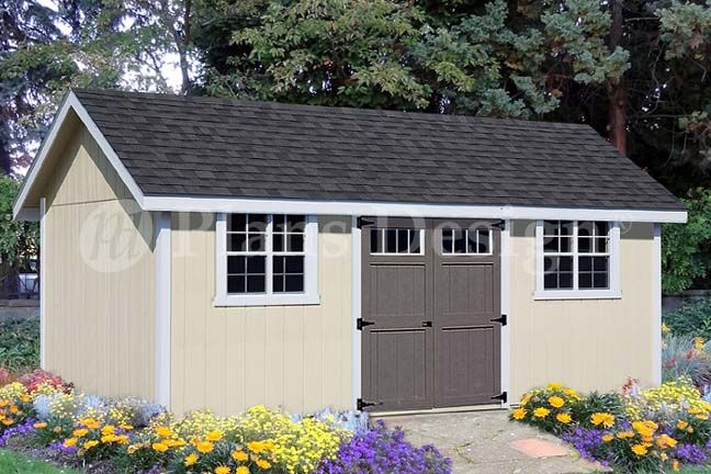 14 X 20 Gambrel Shed Plan Home Hardware Wood Shed Plans