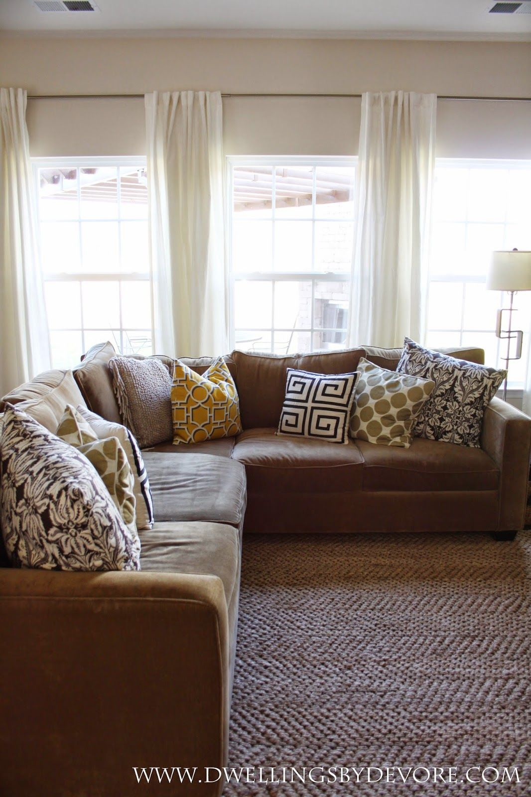 We have these rods and curtains in our living roomke it with