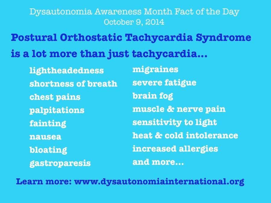 Dysautonomia Tidbits for #DysautonomiaAwareness #POTS #PosturalOrthostaticTachycardiaSyndrome