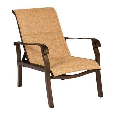Woodard Cortland Sling Adjustable Patio Chair Color ... on Living Accents Cortland Patio Set id=80606