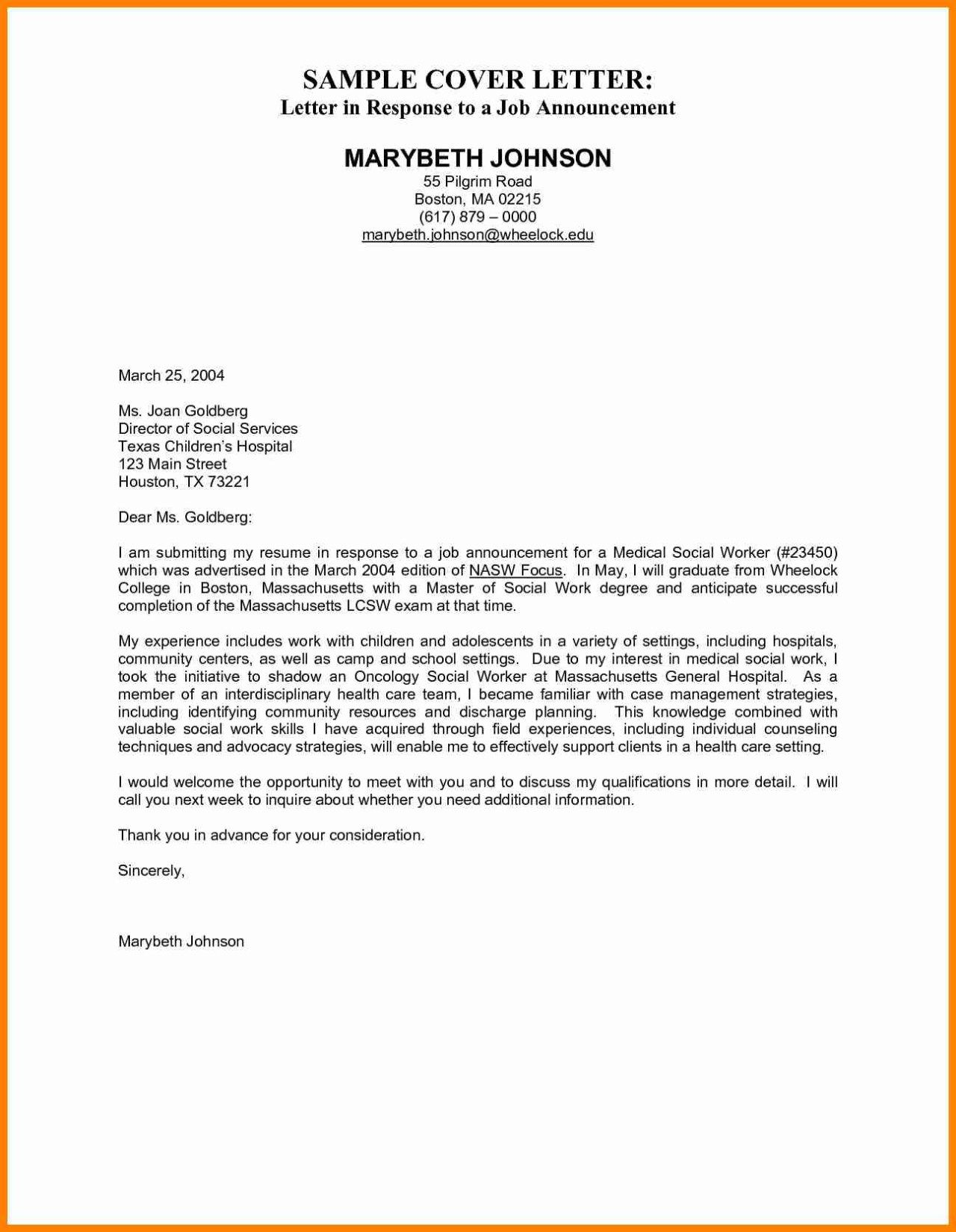 Examples Of Cover Letters For Employment Sample Job Cover ...