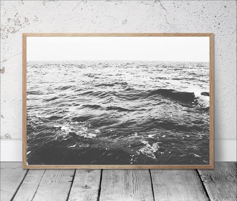 Print A4 A3 Ocean Calm Poster Animal Wall Art Decor