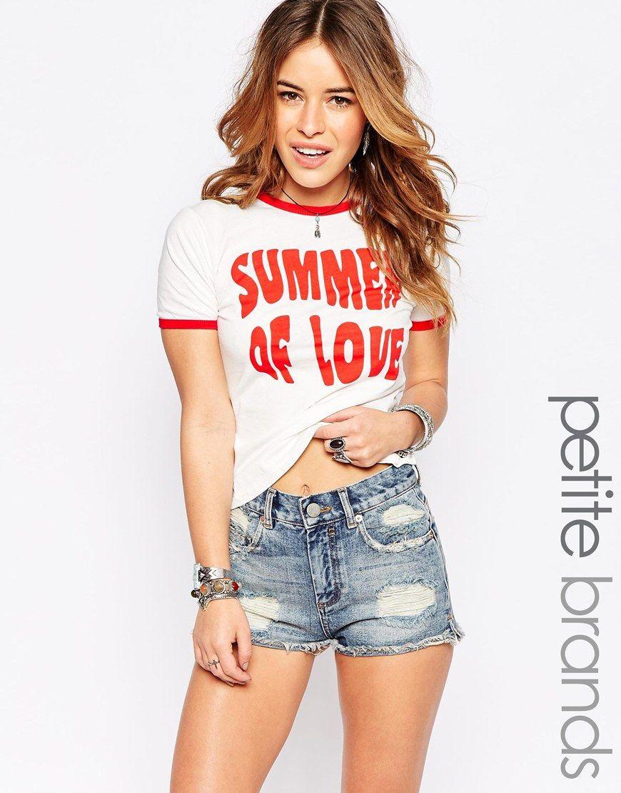 Glamorous+Petite+Summer+Of+Love+Retro+Tee