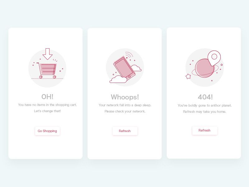 Blank Page | default page | Empty state, Blank page, App ui design