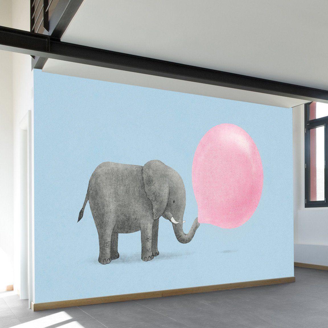 Jumbo Bubble Gum Wall Mural Wall murals Walls and Modern
