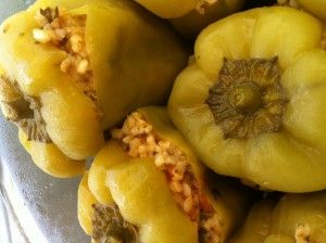 This has been such a healthy alternative to mince stuffed peppers and just as tasty.