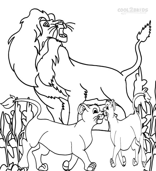 printable simba coloring pages for kids cool2bkids disney