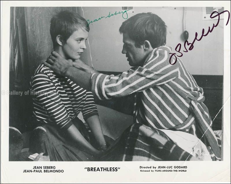 Autographs And Manuscripts Breathless Movie Cast Photograph Signed Co Signed By Jean Paul Belmondo Jean Seberg Docum In 2020 Jean Seberg Seberg Jean Luc Godard