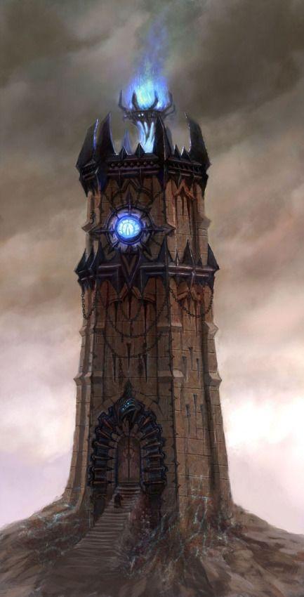 La Ziggurat, sede dei Tenebris. Questa tozza e larga torre dalle guglie aguzze pare quasi un faro blu nel marasma cittadino circostante. Inoltre non in pochi nel distretto pensano che in realtà abbia una funzione di amplificatore di potere magico.