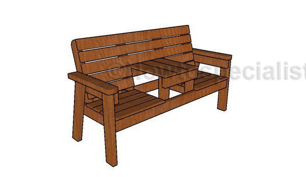 Double Chair Bench Plans Outdoor Tables Chairs Picnic
