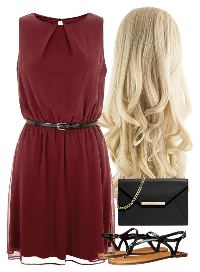"""""""Red Chic- Simple"""" by classychic03 ❤ liked on Polyvore featuring Fergalicious and MICHAEL Michael Kors"""
