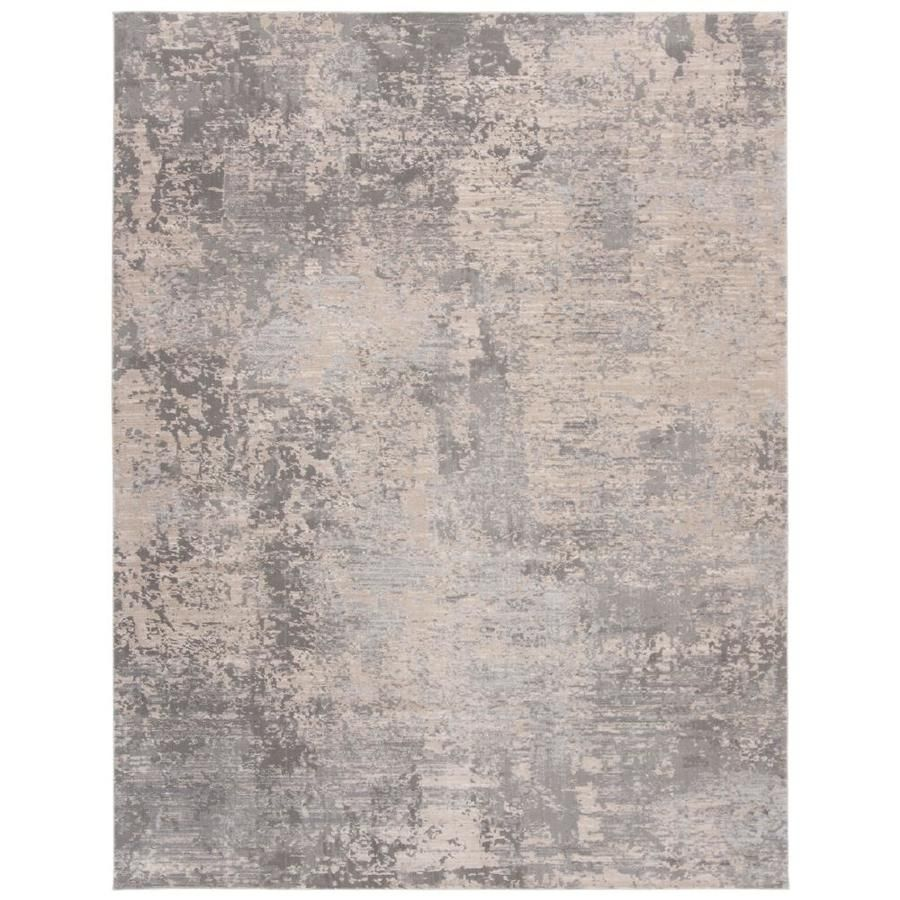 Safavieh Invista Koku Gray Cream Indoor Industrial Area Rug Common 9 X 12 Actual 9 Ft W X 12 Ft L Inv434f 9 In 2020 Industrial Area Rugs Area Rugs Rugs
