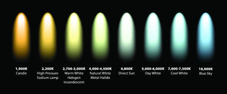 Lights And Color Temperature Bulb Chart Color Temperature Cinematography Lighting Led Color
