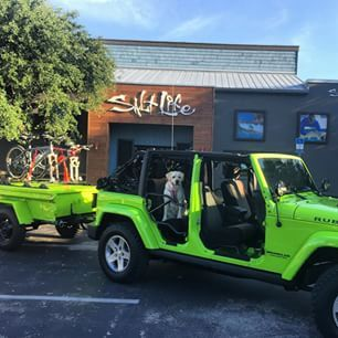 Awesome Salty Jeep Stopping By The Salt Life Store In Jacksonville Fl Saltlife Jeep Salt Life Stay Salty Jeep