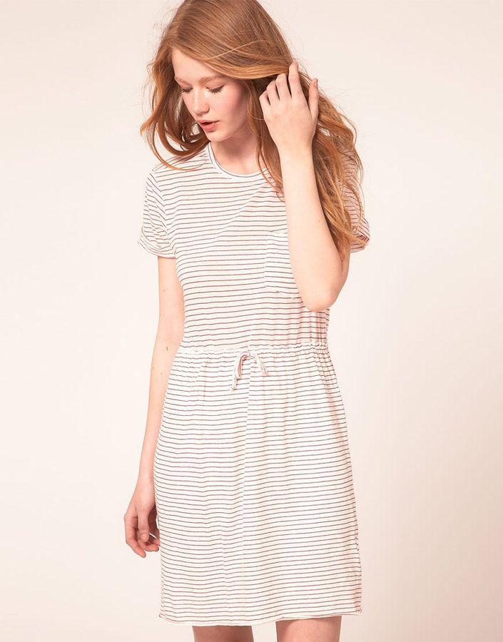 4103f6bda64b Le Mont St Michel T-Shirt Dress In Stripe Jersey